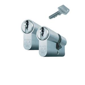2 gelijksluitende cilinders