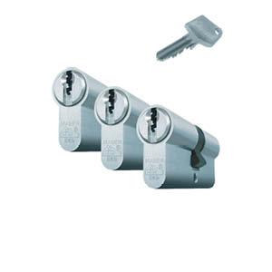 3 gelijksluitende cilinders