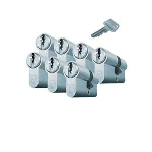 7 gelijksluitende cilinders