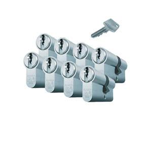 8 gelijksluitende cilinders