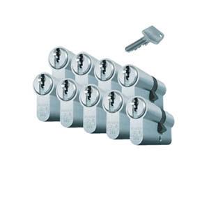 9 gelijksluitend cilinders