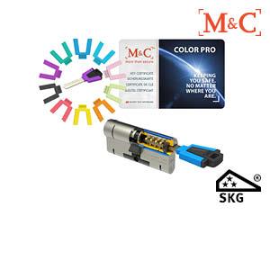 M&C Color PRO SKG*** cilinder met beschermd sleutelprofiel