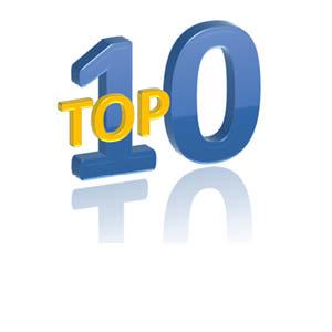 Top 10 oplegsloten